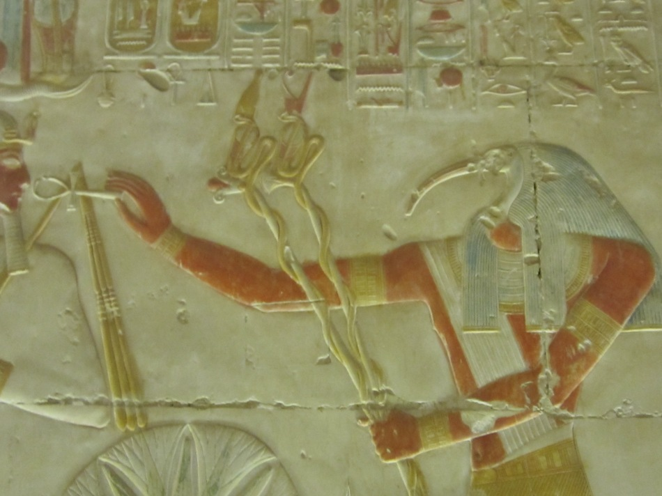 Thoth on the Walls of the Great Pyramid