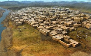 Artist Depiction of Early Sumerian City