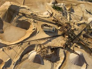 Mineral Mining Operation on Earth